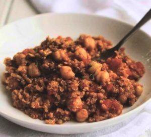 turkey and quinoa in Thai style