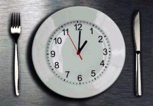 plate looks like a clock