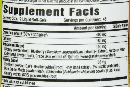 fat burners-green-tea-extract label