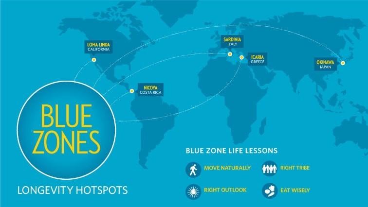 Longevity hotspots