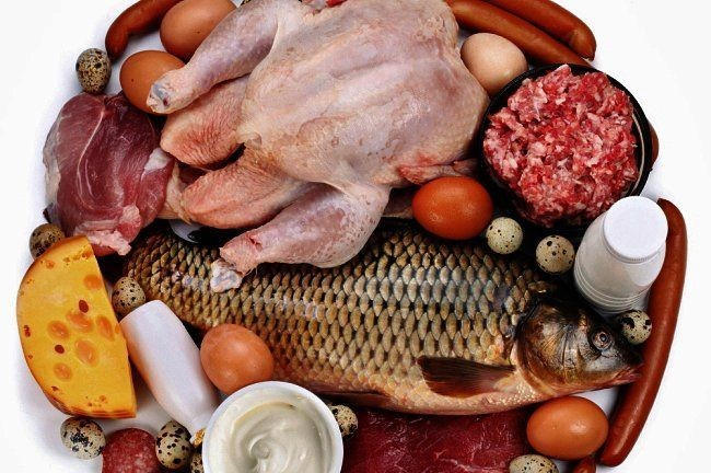 different products where you have proteins in as Fish, Chicken, Meat, Eggs, Cheese