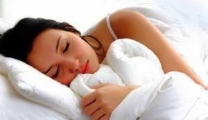 Good night sleep woman