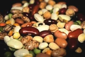 Legumes such as beans, peas and lentils