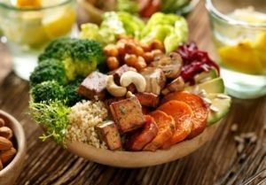 Plate with lots of vegetables
