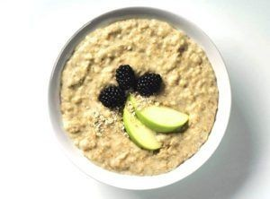 oatmeal-blackberries