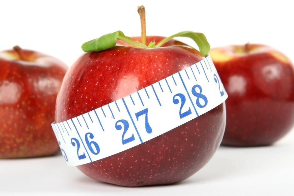 Apple with measurement per Inch