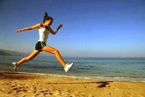 health benefits-maca woman running on the beach