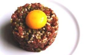 Tartar with pickle and egg
