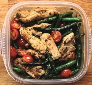chicken with vegetables-