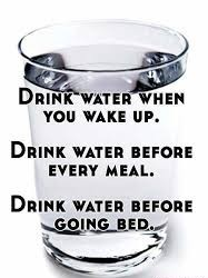 Drink water before every meal