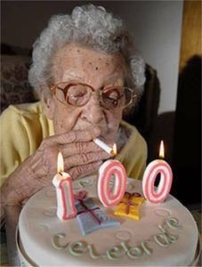 100 years old lady celebrating her birthday