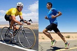 cycling running