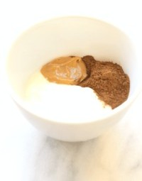Breakfast-2-Yogurt-with-peanut butter-and-cocoa powder-