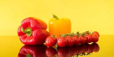 Bell peper and cherry tomato