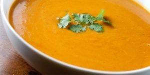 Lunch: pumpkin mushroom soup