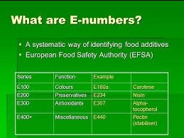 E-numbers