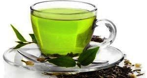Cup with green tea