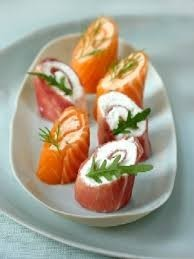 salmon rolls with cream cheese