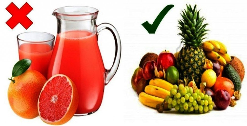 Fruit juice versus Fresh Fruit