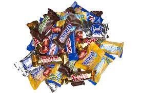 mountain of chocolate bars