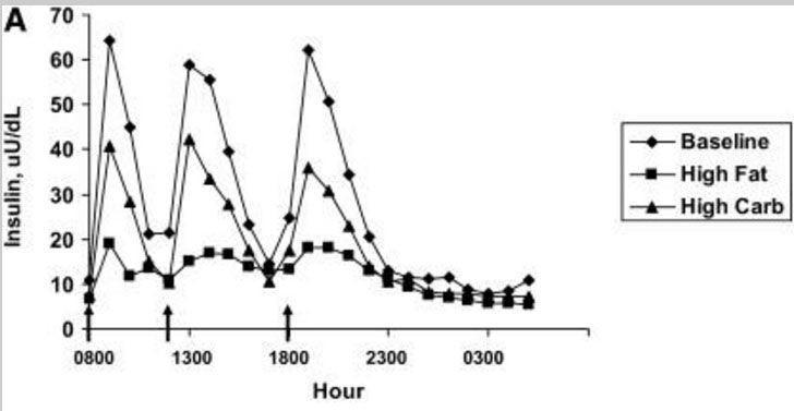 reduced insulin level