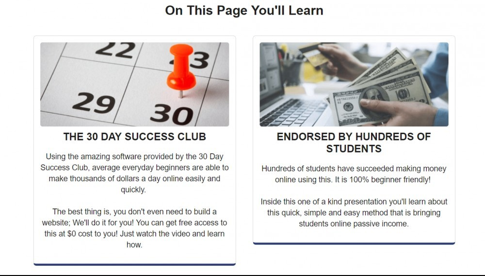 30 Day Success Club