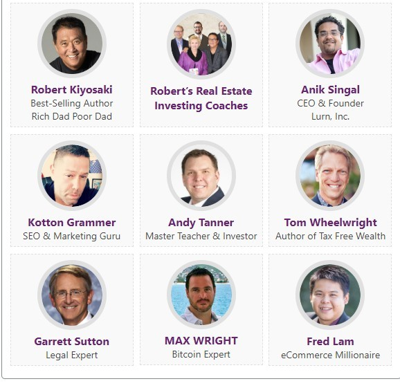 rich dad summit speakers