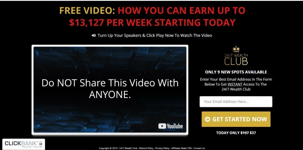 247 wealth club video
