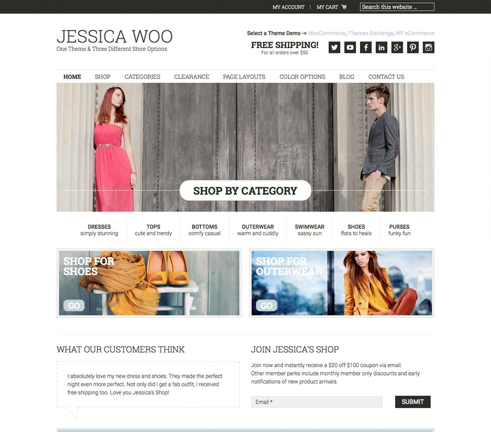 jessica woocommerce by studiopress