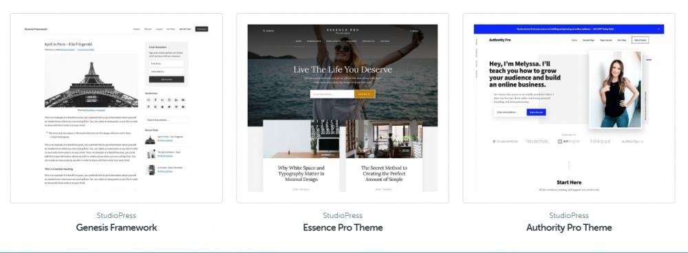 best studiopress wordpress themes