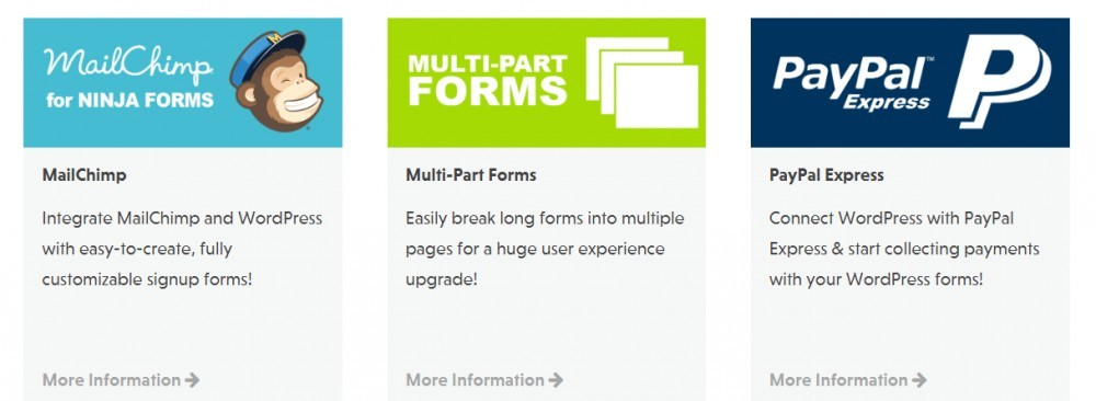 ninja forms email options