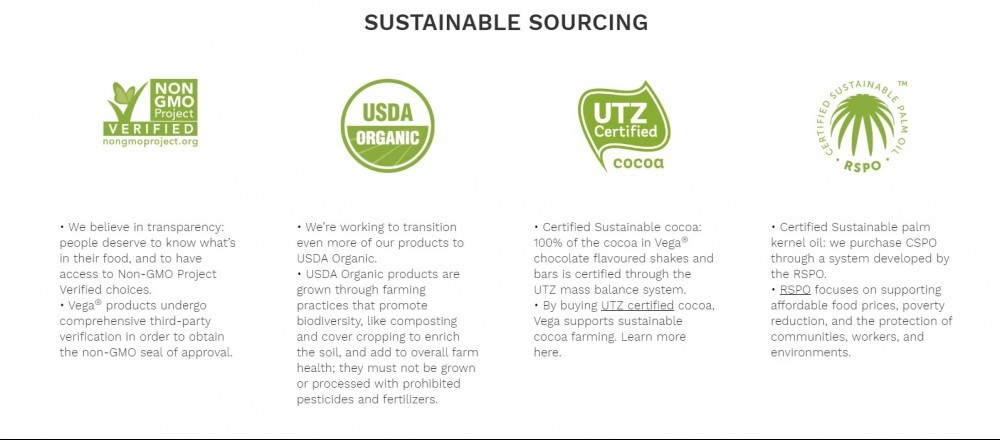 Vega sustainable
