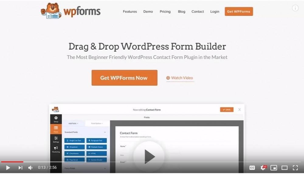 WPForms video