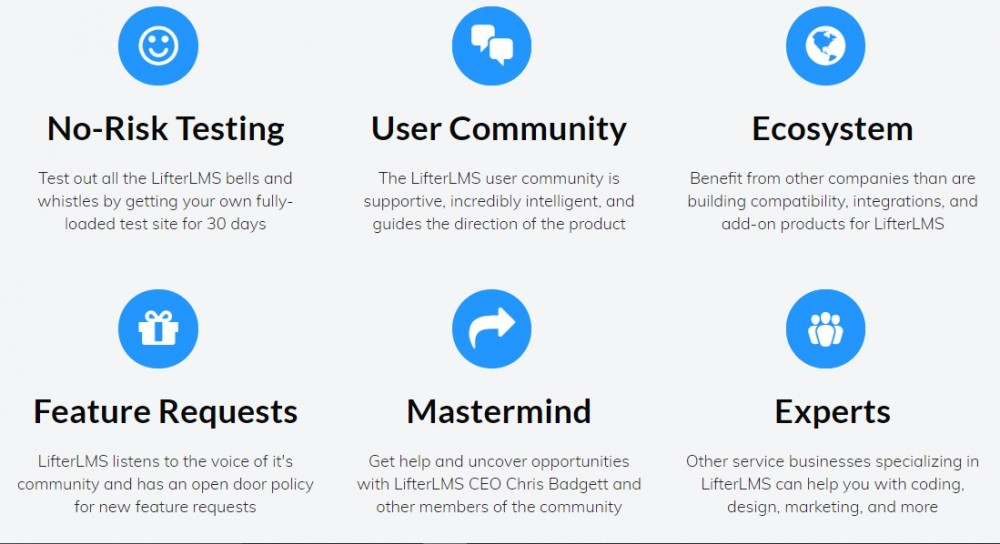 features of LifterLMS