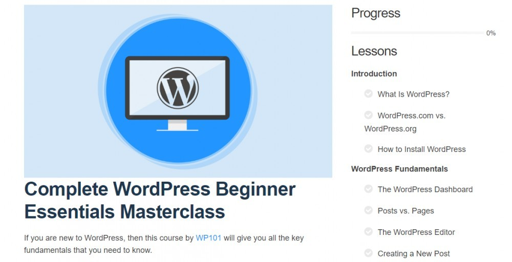 free wordpress training