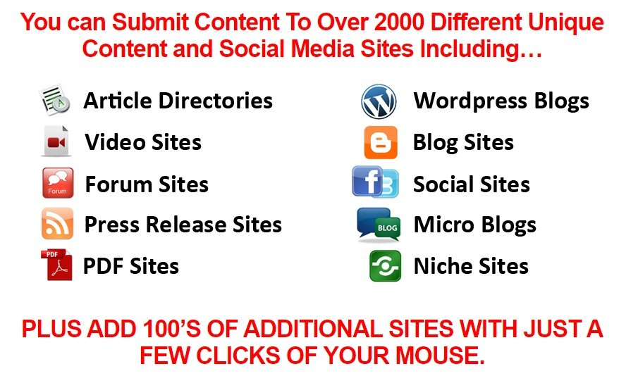 Magic Submitter can submit to thousands of sites
