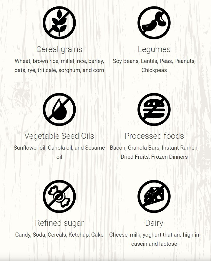 paleo what not to eat