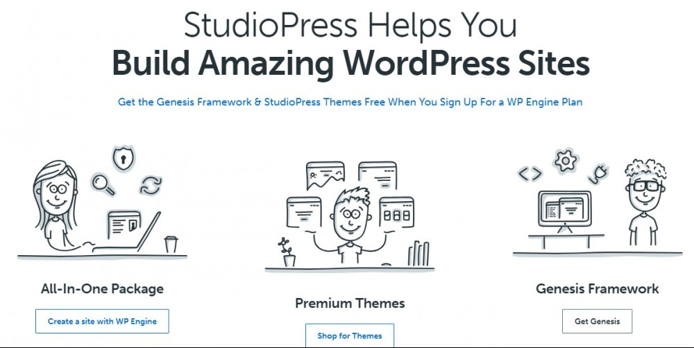 StudioPress wordpress sites