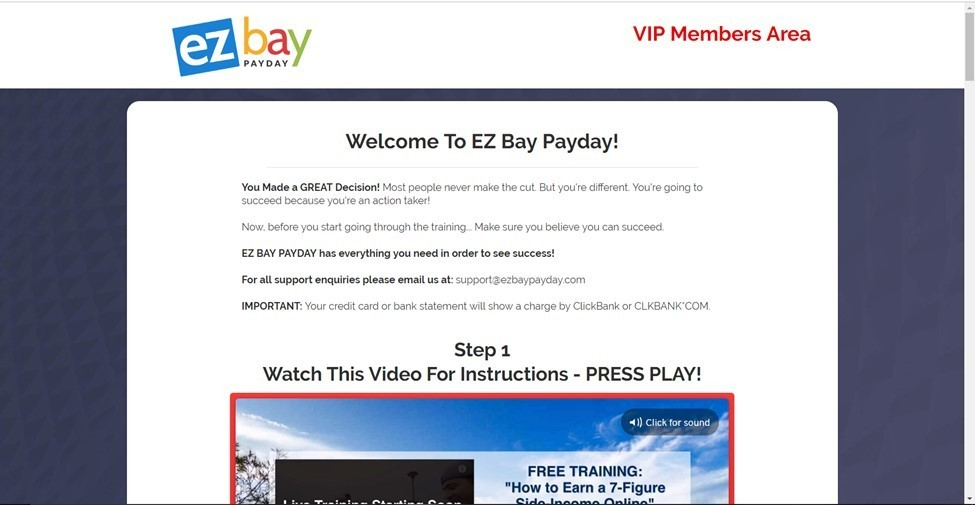 ez bay members area