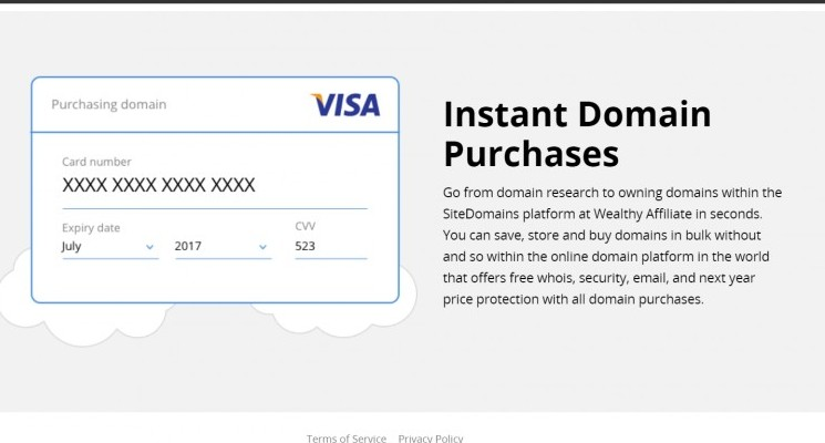 Instant Domain Purchases
