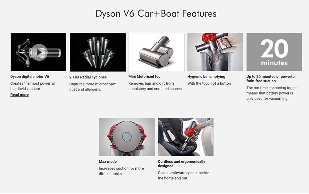 Dyson Car and Boat Features