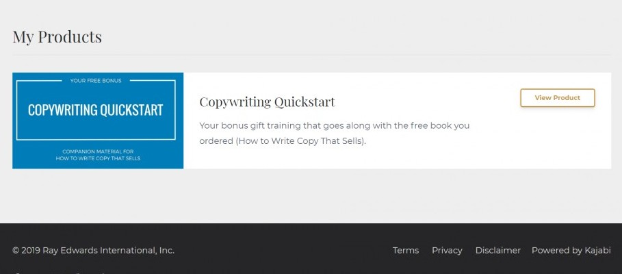 Copywriting quickstart