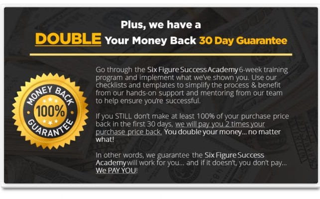 The Six Figure Success Academy Guarantee