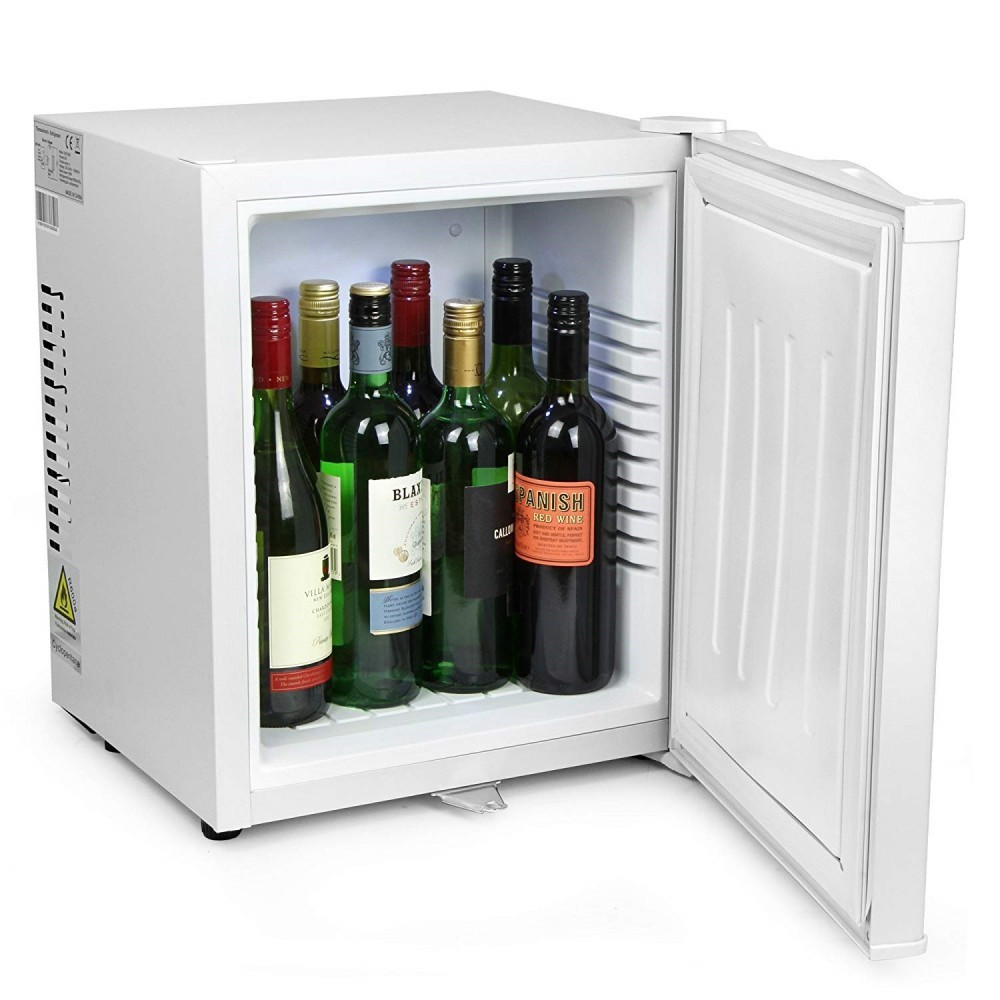 Inside Chill Quiet Mini Fridge White