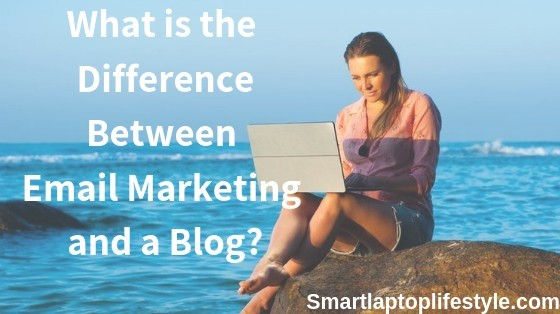 What is the difference between email marketing and a blog
