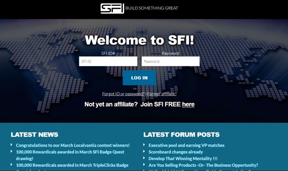workanyplaceanytime - SFI Signup