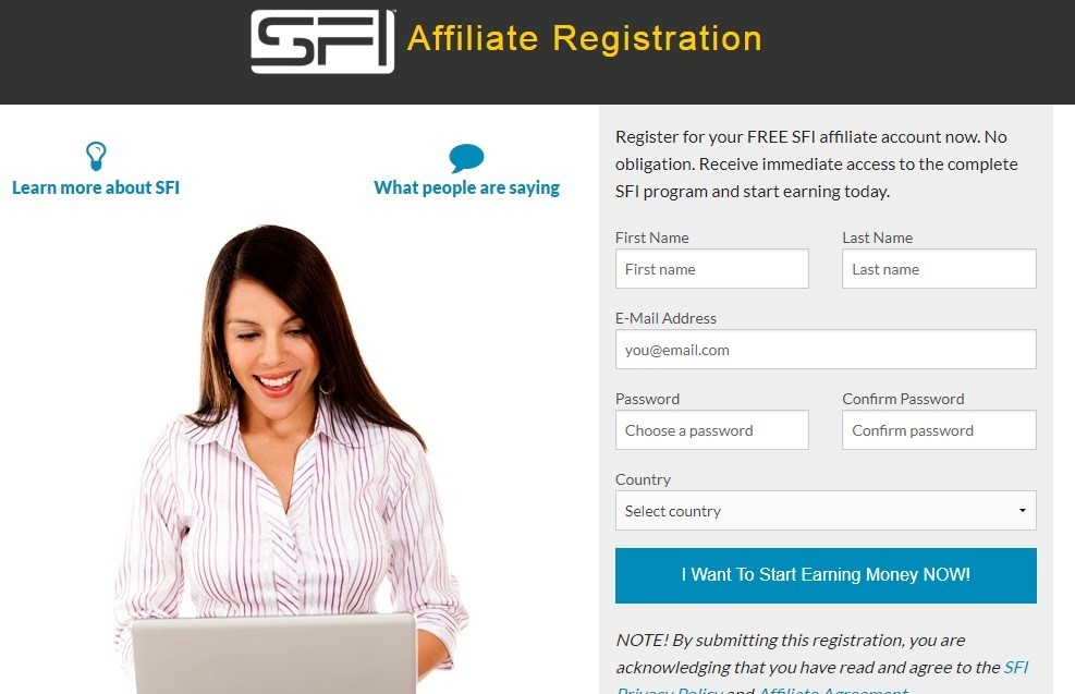 workanyplaceanytime - SFI Registration