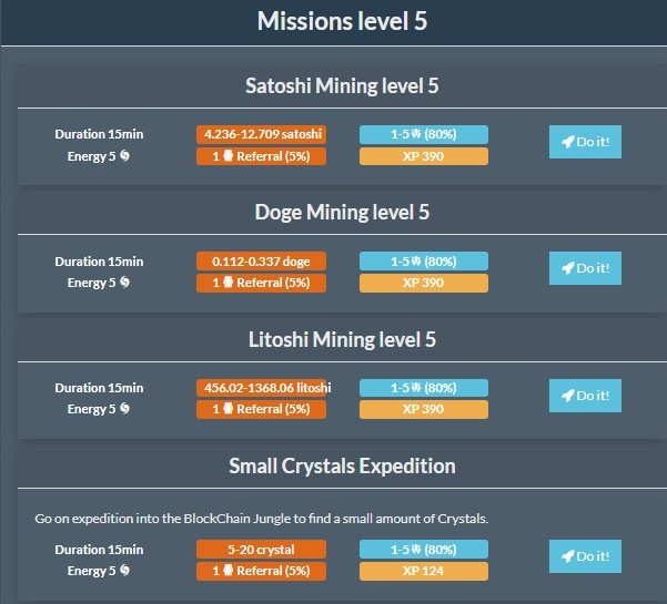 workanyplaceanytime.com - Cryptomininggame.com Missions