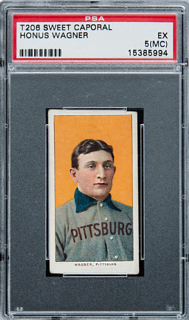The Most Expensive Card In The World T206 Sweet Caporal Honus Wagner PSA Card