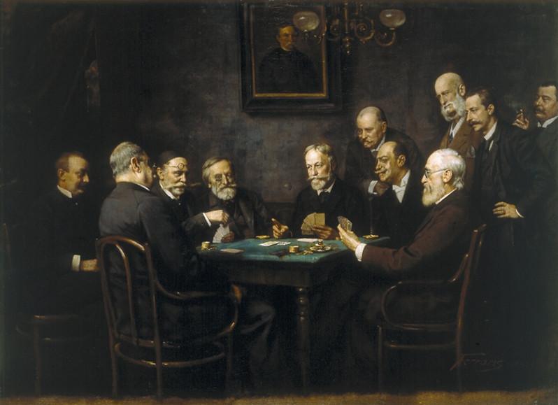 Men Playing Tarot Cards